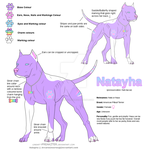 Natayha - Character Ref Sheet by ArcaneDesires