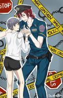 Free Iwatobi Swim Club: You're under arrest! by SnowWhiteBirdie