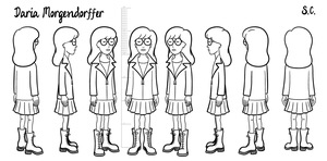 Daria - model sheet by S-C