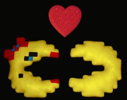 Pac-Man and Ms. Pac-Man by bassoonhero