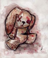Bloody Plush Bunny by Flame-Ivy