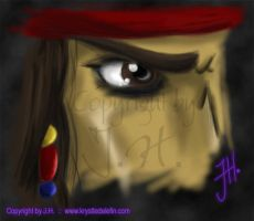 Captain Jack Sparrow :: Eye V2 by MooneyeKitsune