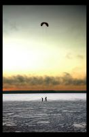 Kite flying on the ice by Amalgamax