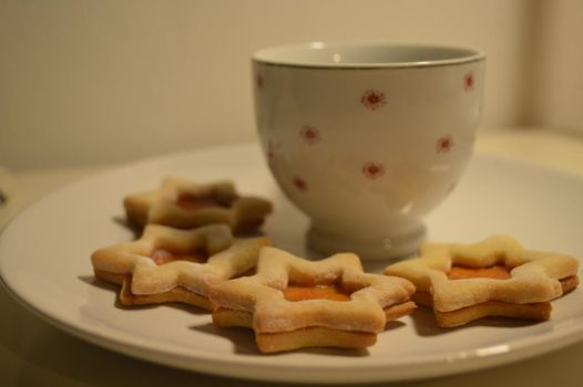 Maple syrup star cookies by Midori-44