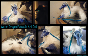 Posable Water Dragon Art Doll by Foxnoir6