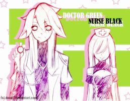 Dr_green_and_nurse_black by Doza17