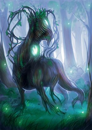 Commission- MTG token- Saproling by Lilith-the-5th