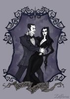 Gomez and Morticia Addams by IrenHorrors