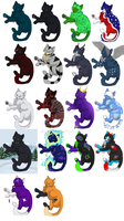 Cat icons by Ditzzi