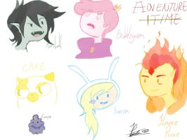 Adventure Time faces by AliceToAnimeworld