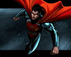 Superman in Space by ErikVonLehmann