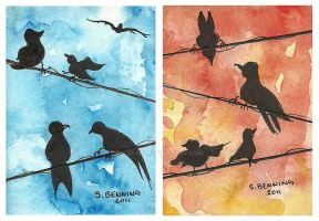Birds On A Wire by Sacari