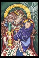 Our Lady of Candles by natamon