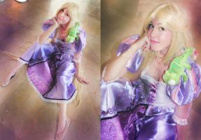 Rapunzel cosplay Tangled by MissWeirdCat