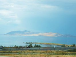 The Great Salt Lake from the Passanger Side by XxSilverOwl13xX