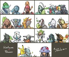 Warframe x Pokemon by DarikaArt