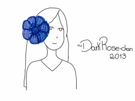 Girl With Flower by DarkRose-chan