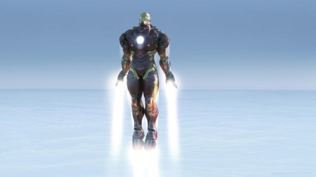 Iron man Flight 1 by Daniel Rutherford by Avitus12