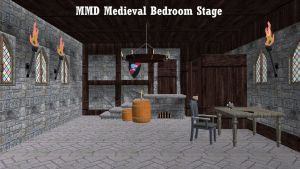 MMD Medieval Bedroom Stage ~Converted in SketchUp~ by swiftcat-mooshi