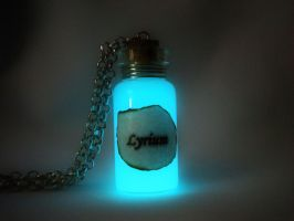 Lyrium Potion Pendant Glow Version - Dragon Age by MySoulShards