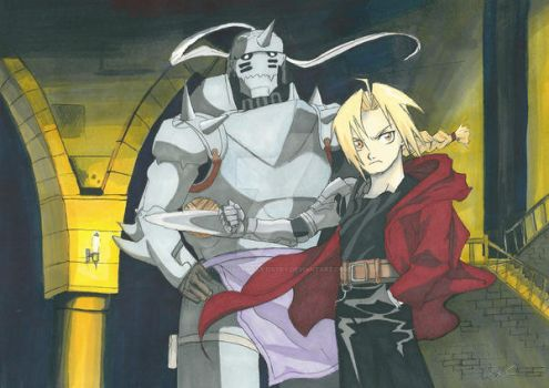 Elric brothers by Clairvoyantartistry