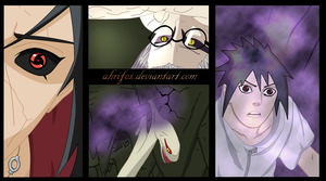 sasuke, itachi, kabuto manga 580 - coloured by Ahrifox