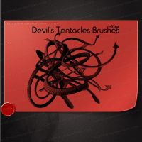 Devil's Tentacles Brushes by M10tje