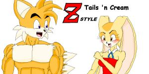 Tails and Cream DBZ style by sonigoku