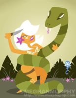 Jungle Girl Vs. Snake by MeghanMurphy