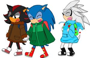 Hedgehogs Go to School by GirlinLuvAnime