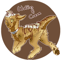 Gumdrop Raptor: Waffles and Cream! by SierratheSharkDoge