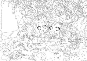 Color me: Strawberry Fields lineart by phillydelphy