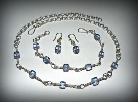Blue mystic quartz and Sterling silver by marsvar