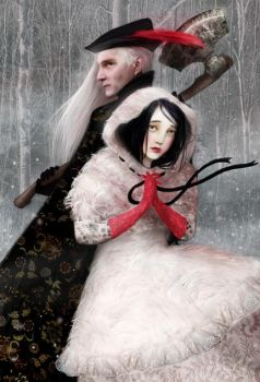 Snow White and the Woodsman by meluseena