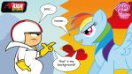 kick buttowski n rainbow dash by avellante
