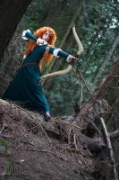 Brave - Training with the bow by goddessnaya