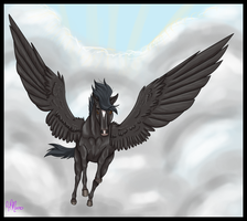 Black Pegasus by DasMinty