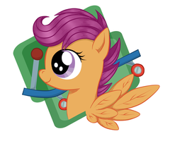 Scootaloo Keychain by BuckingAwesomeArt
