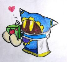 Magolor loves Apple Juice by Rotommowtom