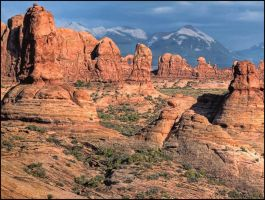 Evening at Arches by papatheo