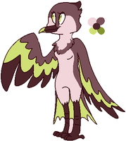 [OFFER] - Anthro Hummingbird Adopt by Featheries