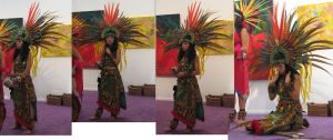Free Aztec Dancer stock pack 2 by tursiart