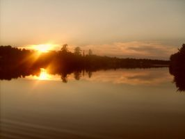 River sunset in howland by ssg-McGary