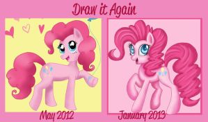 Before and After Meme: Pinkie by Mel-Rosey