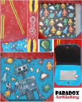 Robo-Doodle - Handmade/Handpainted - Small Bag by Paradox-Artistry
