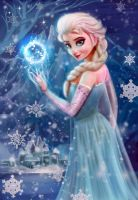 Frozen Elsa by whereyougo