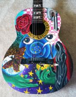 Painted Guitar :close up: by BlackMagdalena