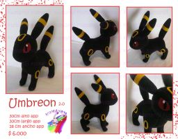 umbreon plush hand made by chocoloverx3