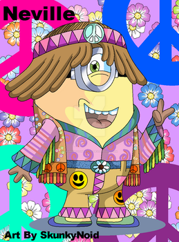 Neville The Hippy Minion by SkunkyNoid