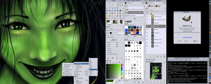 GIMP 2.5.2 screenshot by Griatch-art